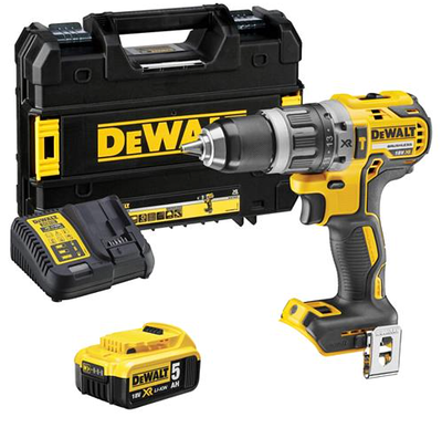 Dewalt_DCD796P1_18V_XR_Brushless_2nd_Gen_Combi_Drill_with_1_x_5Ah_Battery__Charger_and_Case