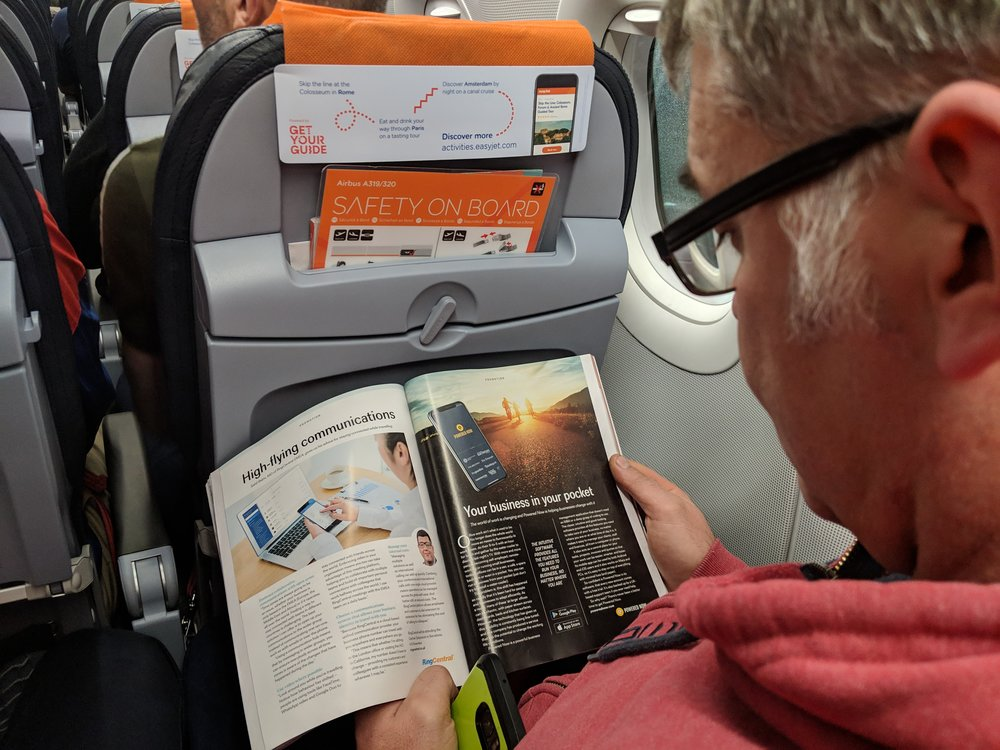 Graham spotted our article on the way to Madrid!
